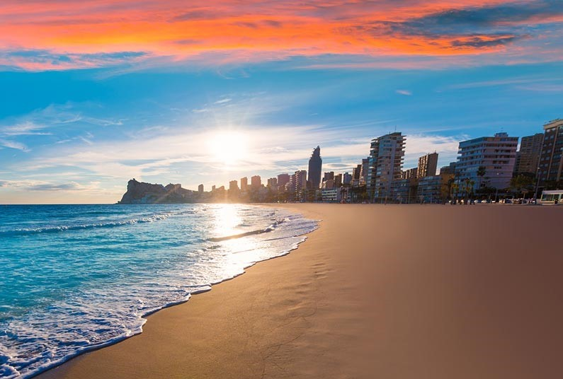 Summer Sun in Benidorm