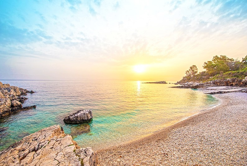 Relax in view of the turquoise water of the Ionian Sea