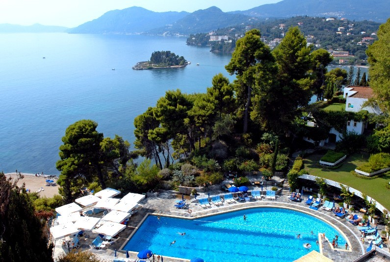 Corfu is just off the West coast of Greece