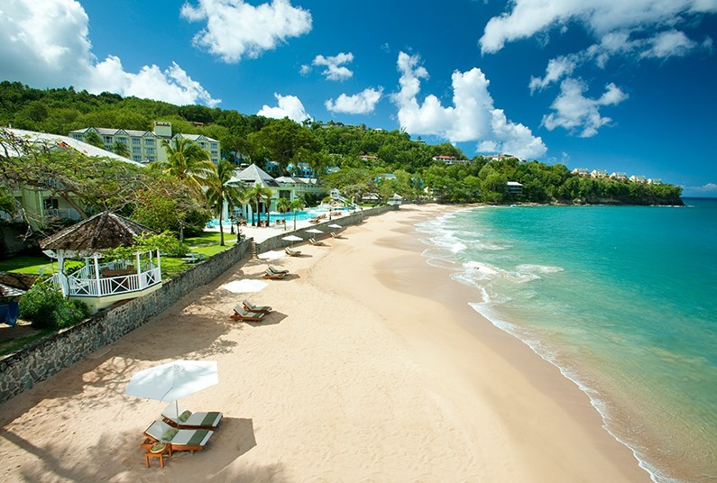 A Glamarous Resort in Saint Lucia