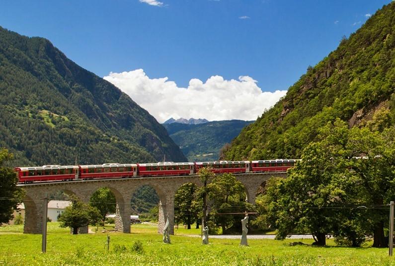 6 day rail journey through Switzerland